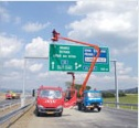 Montážní plošina MP16 - dopravní značení 2