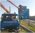 Montážní plošina MP16 - dopravní značení 1